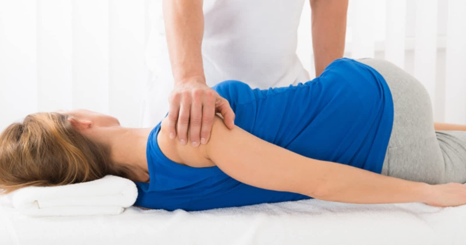 Women undergoing physiotherapy